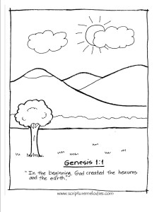 genesis 1 v1 coloring page - 1 Coloring Page