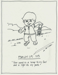 Psalm 119 v105 coloring page