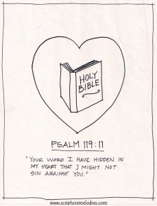 Psalm 119 v11 coloring page (footer)