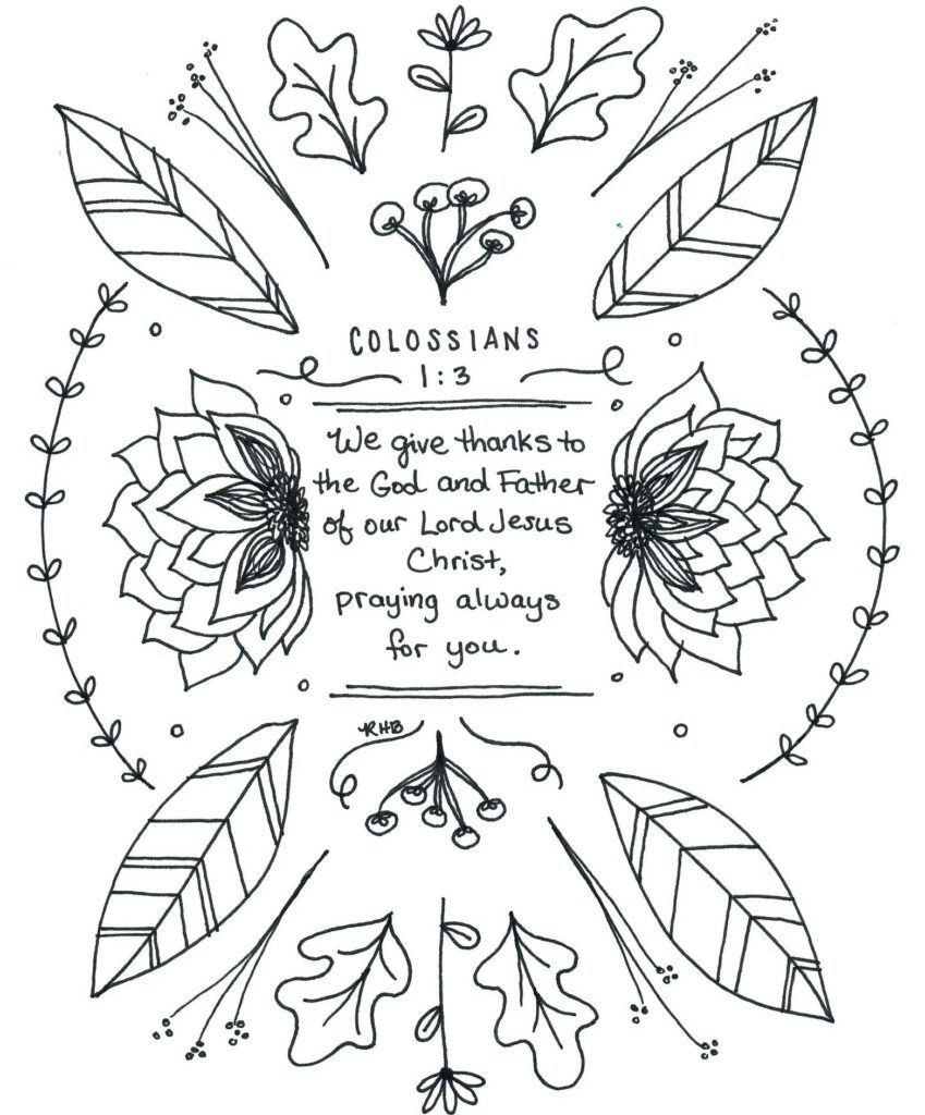 Coloring Page Bible Verse Revelation 21:5 DOWNLOAD | Etsy | 1024x849